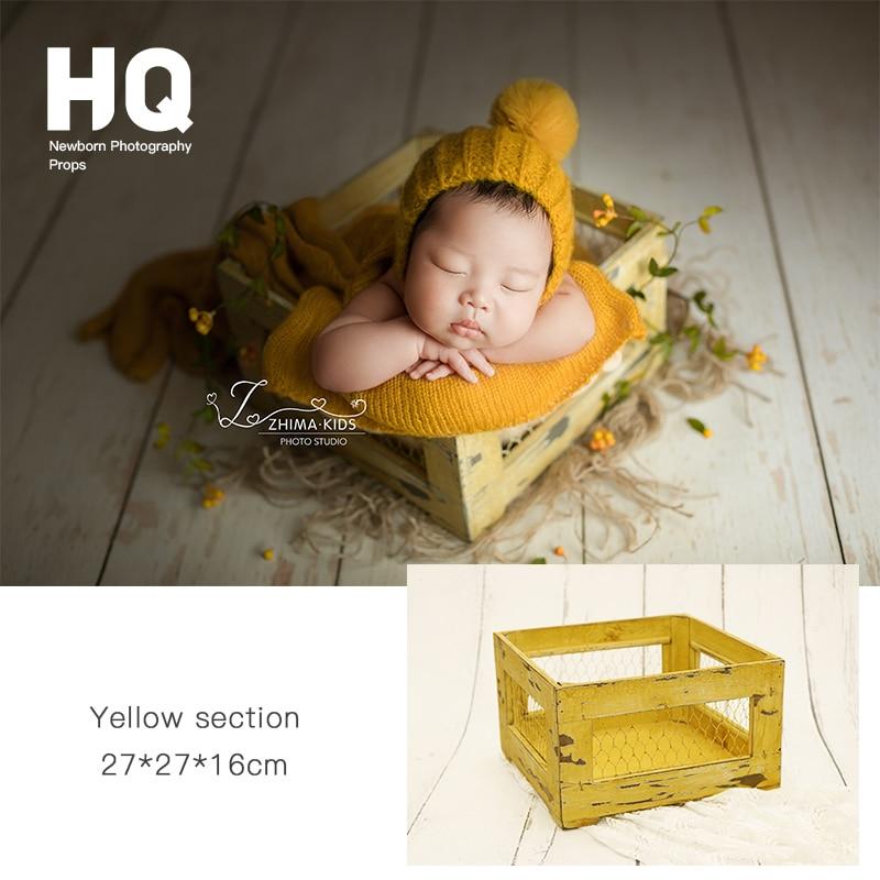 Newborn Photography Props Bucket Baby Photography Basket Infant Iron Photo Studio  Accessories  Chlidren Basket