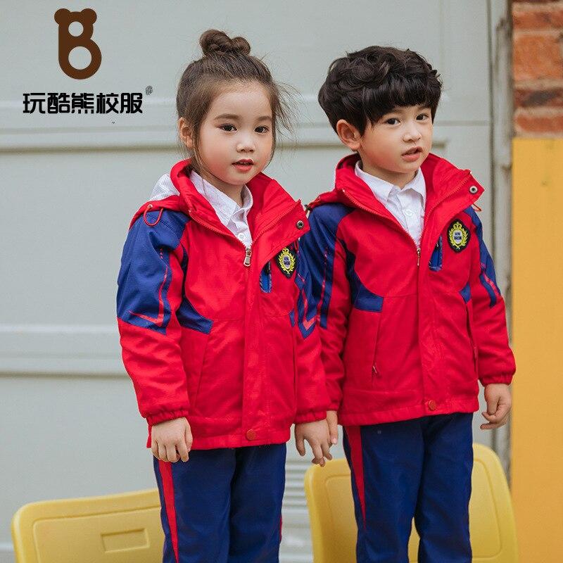 Play Cool Bear Junior High School Young STUDENT'S School Uniform Kindergarten Suit Business Attire Men And Women Children Windpr