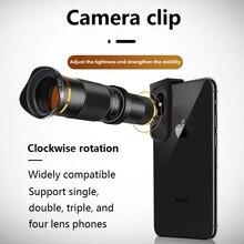 38X ZOOMเลนส์Telephoto HDกล้องโทรทรรศน์กล้องโทรทรรศน์กล้องโทรทรรศน์ตาเดียวกล้องเลนส์สำหรับIPhone 11 XS MAX XR Samsungสมาร์ทโฟนAndroid