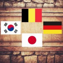 Placa de fútbol carteles de hojalata vintage Home Bar Pub placas de metal decorativas nacionales bandera para pared pegatinas de hierro japonés