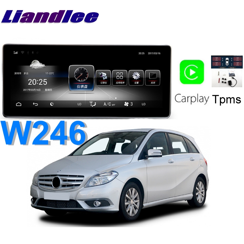 Liandlee Car Multimedia Player NAVI For <font><b>Mercedes</b></font> Benz MB B Class <font><b>B180</b></font> B200 B220 W246 CarPlay TPMS Stereo <font><b>GPS</b></font> Navigation image
