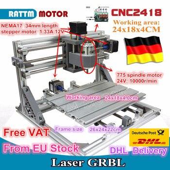 цена на CNC 2418 GRBL control Diy CNC machine working area 24x18x4.0cm,3 Axis Pcb Pvc Milling machine Wood Router,Carving Engraver,v2.5