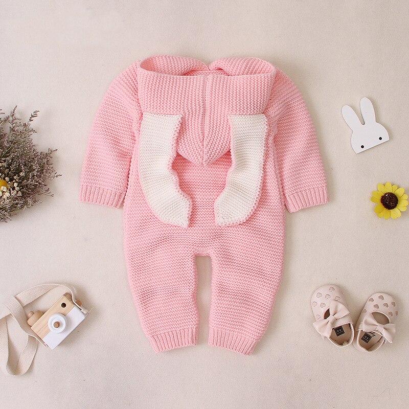 Осенняя одежда для новорожденных, кардиган с капюшоном, детские комбинезоны, одежда для маленьких девочек и мальчиков, модный костюм для младенцев, детский вязаный комбинезон для малышей 5