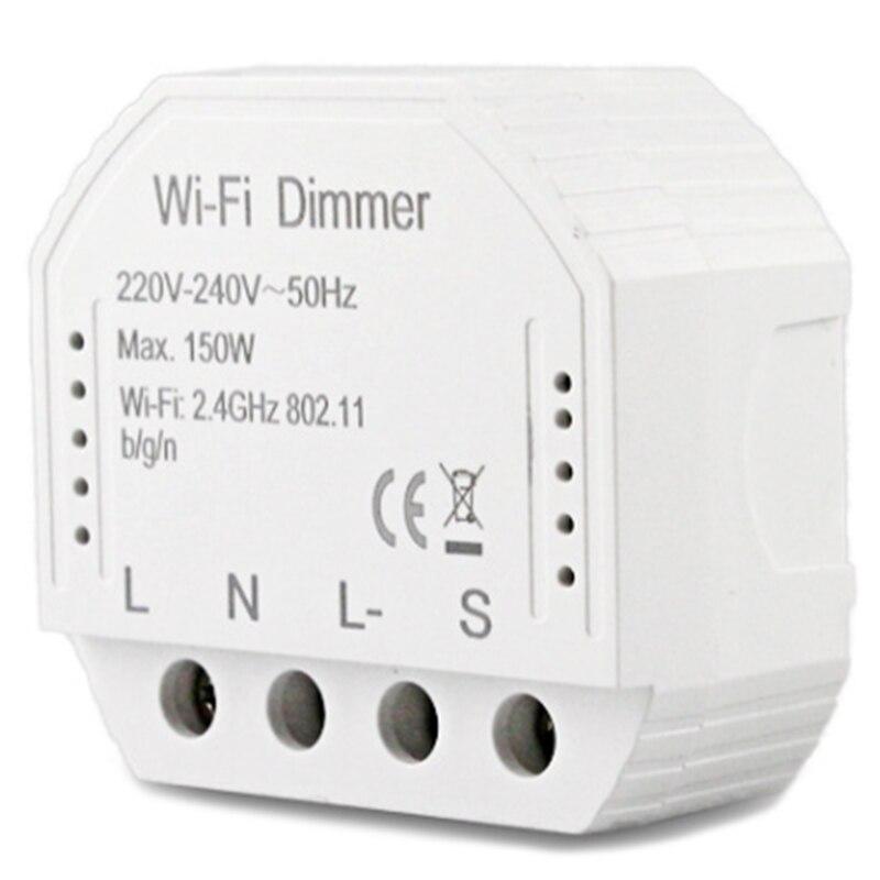 HTHL-2 Way Wifi Smart Light LED Dimmer Switch Diy Breaker Module Smart Life/Tuya APP Remote Control,Works With Alexa Echo Google