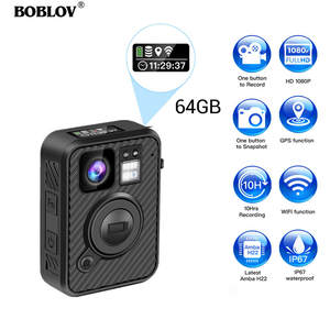 BOBLOV Police Camera Dvr-Recorder Law Enforcement Night-Vision Wifi 1440P F1 64GB GPS