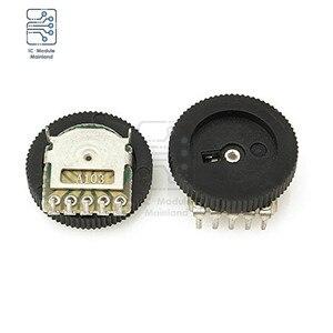 10 шт./лот A103 10K Ohm 5-контактный потенциометр, аудио стерео переключатель громкости для радио MP3 MP4