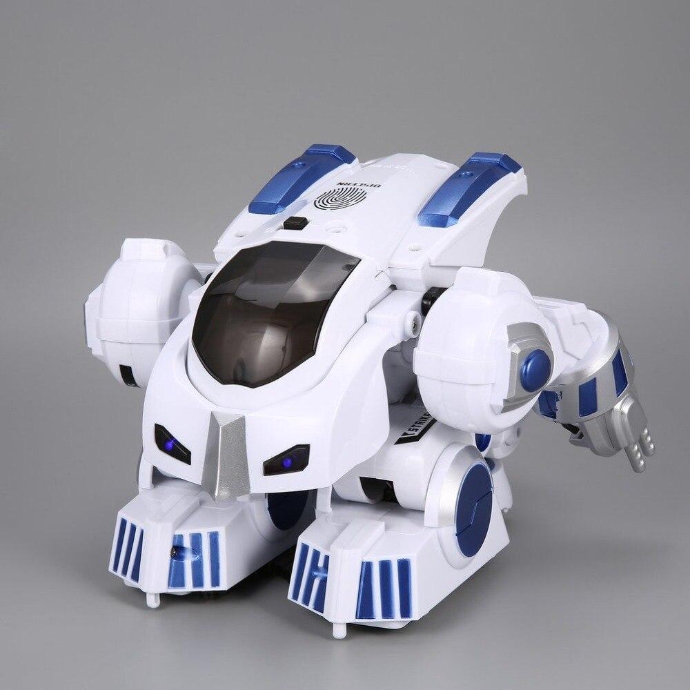 K4 Intelligent Fingerprint Deformation Police RC Robot Walking Dancing Saying Sliding Kid Remote Control Toy Gift
