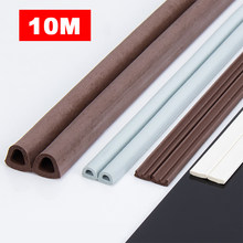 10M DIEP Type Door Weather Strip Self Adhesive Rubber Seal Foam Tape Window Dustproof Soundproof Insulation Tools