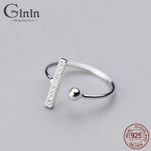 Ginin 925 Серебряное кольцо для женщин Мода Япония и Южная Корея