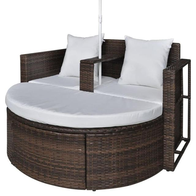 Outdoor Patio Canopy Cushioned Daybed  5
