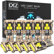 DXZ 10pcs T16 T15 W16W Lâmpada LED 2835 9-SMD 6000K Canbus 921 912 Luzes Inversas Carro Livre de Erros auto Backup Lâmpada 12V Branco