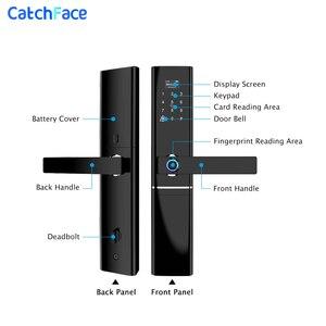 Image 2 - Tuya טביעות אצבע חכם דלת מנעול Wifi קוד RFID כרטיס מפתח דיגיטלי אלקטרוני מנעול עם פעמון בריח עבור אבטחה בבית