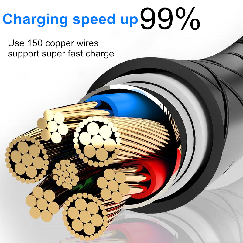 3A Magnetic Micro USB Cable for iPhone Xiaomi K20Pro Huawei Samsung USB Type C Fast Charging Magnet Charger Mobile Phone Cable in Mobile Phone Cables from Cellphones Telecommunications