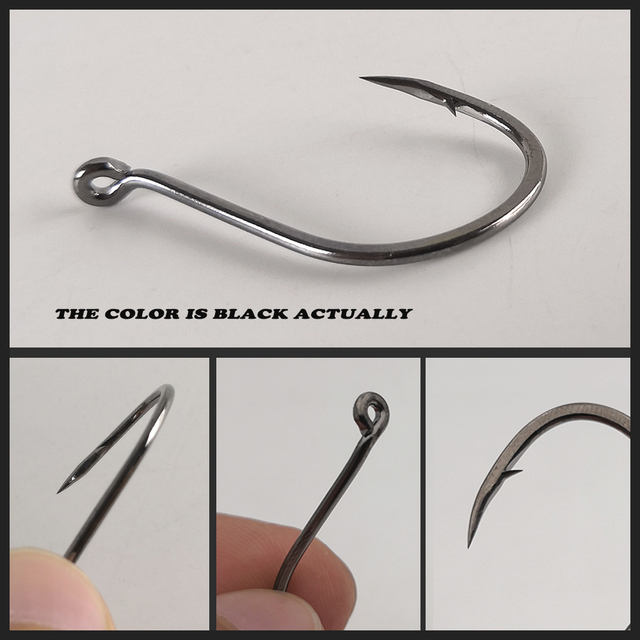 100pcs Octopus Hooks Strong high carbon steel Barbed Single hook fishing Accessories Tackle for Seawater and freshwater Fishhook
