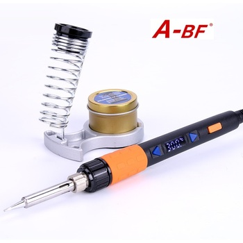 A-BF GT90E GS90D Soldering Iron 90W LCD Display Adjustable Temperature Electric Soldering Iron Kit With Solder Soldering Tips
