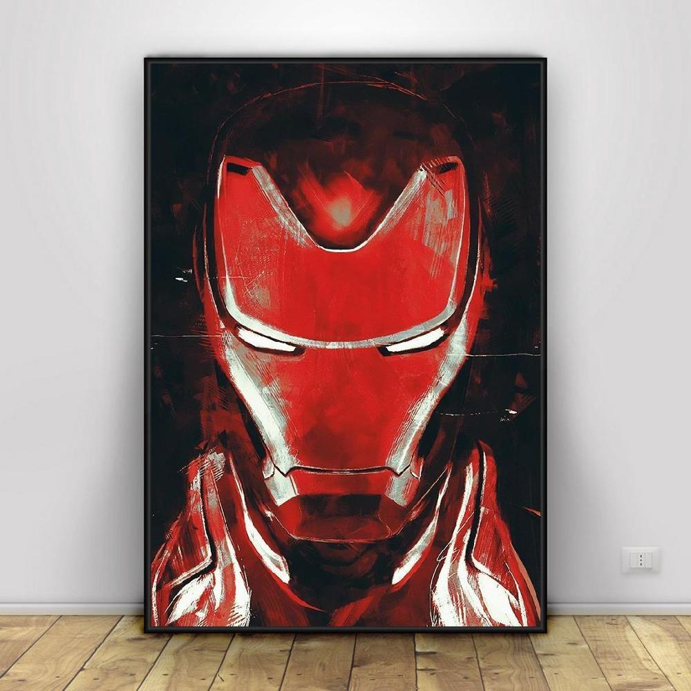 Современная Настенная живопись Мстители персонаж эндшпиль Железный человек Тор Капитан Америка постеры картина холст домашний декор - Цвет: Светло-серый
