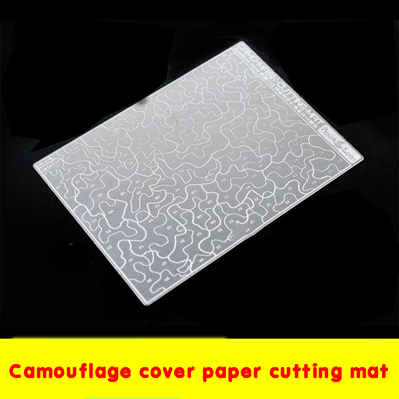 Cutting Pad Military Model Making Tool Spray Paint Desert Camouflage Cover Paper Double-sided Two-color Fresh-made Cutting Board