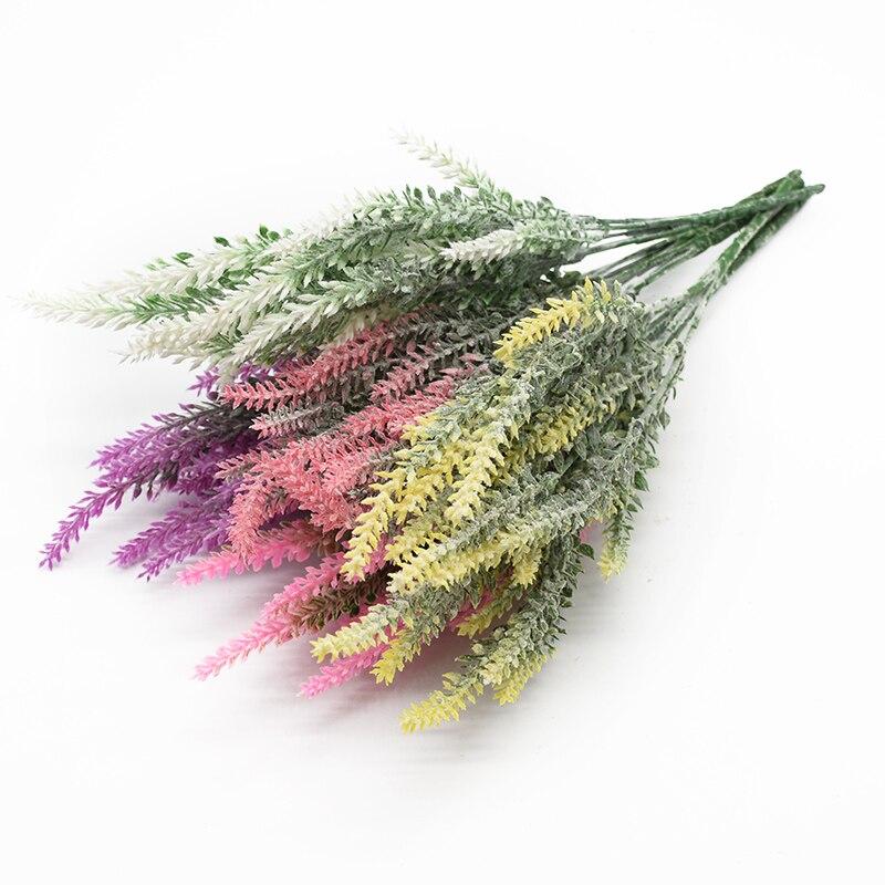 1 Bunch Scrapbook Plastic Lavender Vase For Home Decor Ornamental Flowerpot Artificial Plants Cheap Wedding Decorative Flower