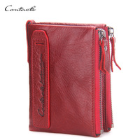 2019 Hot! New Vintage Small Women Wallets Female Genuine Leather Womens Wallet Zipper Design With Coin Purse Pockets Mini Wallet
