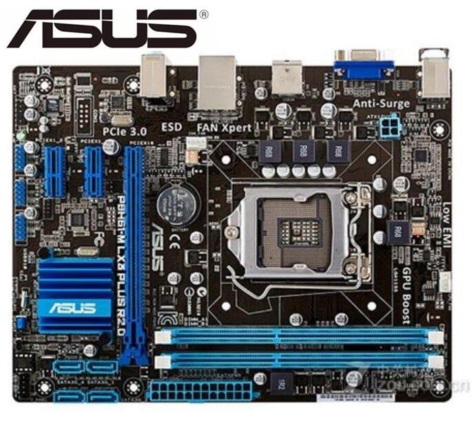 Original Motherboard  ASUS P8H61-M LX3 PLUS R2.0 DDR3 LGA 1155 Support I3 I5 I7 H61 Used Desktop Motherborad