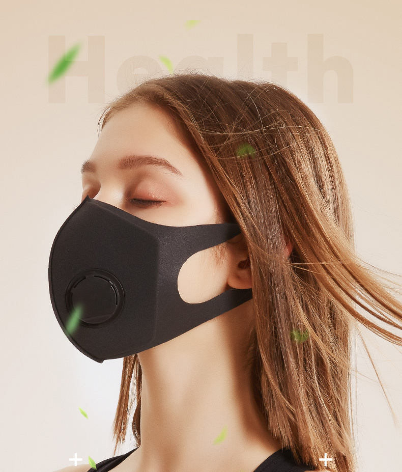 New 3PCS/Lot Sponge Dust Masks Respirator Mask anti virus with Breath Valve Anti-Dust Anti Pollution Face Mouth Mask Breathable 1