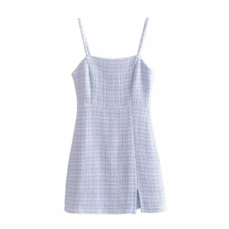 Elegante de espaguetis Correa Bodycon mujer Mini Vestido 2021 novedad de verano sólido alto cintura Chic-Encuentro de oficina dama mujer Vestido