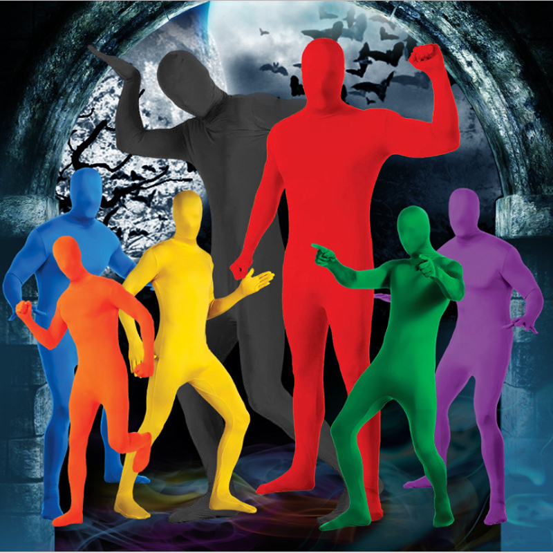 Skin Tight Full Body Costume Zentai Cosplay Invisible Morph Suit Women Men Lycra Spandex Fitness Bodysuit Catsuit