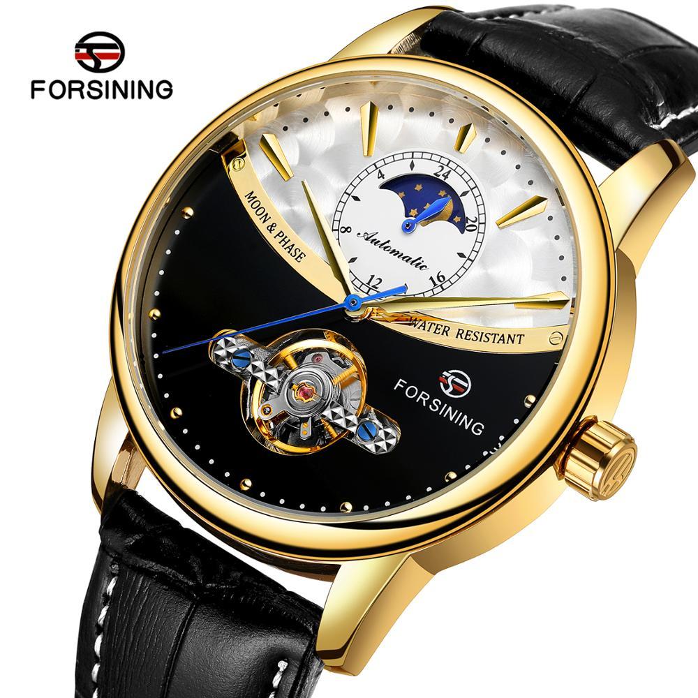 New Brand Fashion Mechanical Tourbillon Watch Men's Leather Band Luxury Waterproof Wrist Watches Male Business Watch|Mechanical Watches| |  - title=