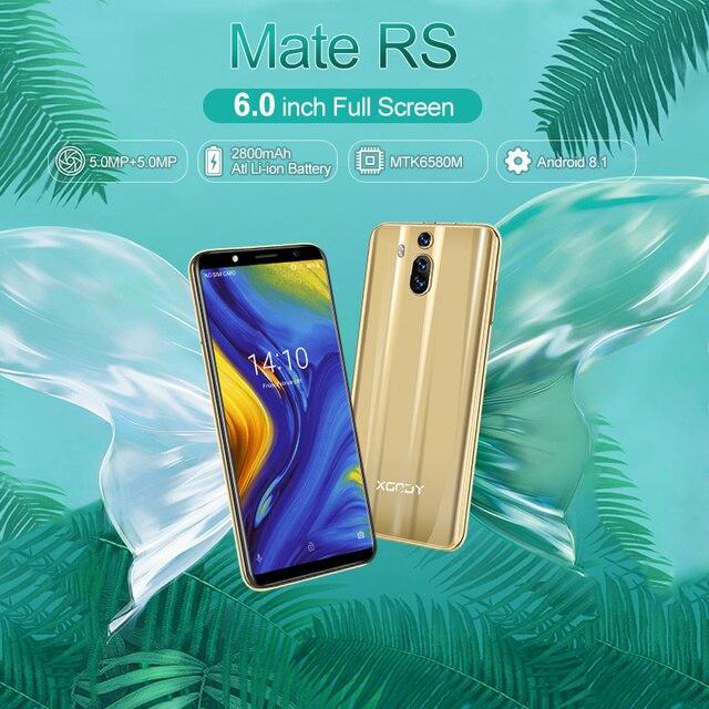XGODY Mate RS 3G смартфон с 6 дюймовым дисплеем, 18:9, ОЗУ 1 ГБ, ПЗУ 8 ГБ, 2800 мАч, Android 8,1