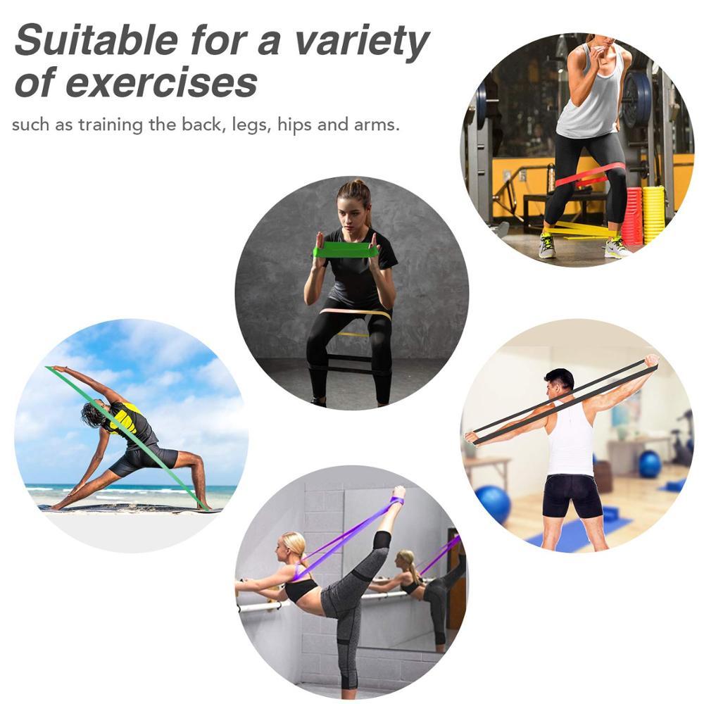 Эластичная Эспандер для упражнений, эластичная лента для фитнеса, пилатеса, домашних тренировок, 208 см-4