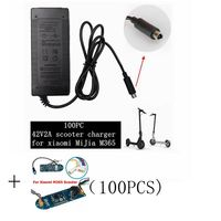 100 pc best price 42 V 2A electric Skatebaord adapter Scooter charger for Xiaomi Mijia M365 Scooter Electric bicycle accessories|Portable Lighting Accessories|   -