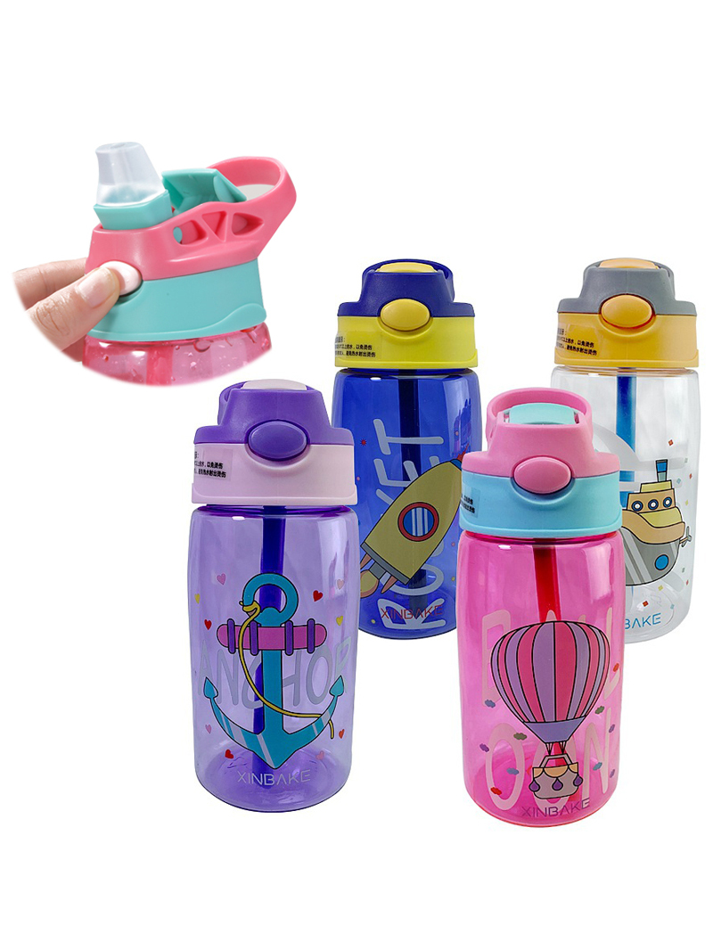 Feeding-Cups Straws Water-Bottles Baby Creative Kids Children's Cartoon Leakproof Portable