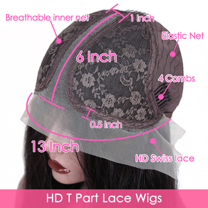 Image 4 - Straight HD 13x6x1 T Part Lace Wigs Brazilian Remy Natural Color Human Hair Lace Wigs For Black Women Pre Plucked With Baby Hair