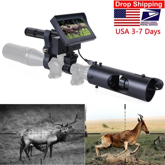 Nachtsicht Zielfernrohr Jagd Scopes Anblick Kamera Infrarot LED IR Klare Vision Umfang Gerät für Gewehr Nacht Jagd