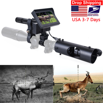 Night Vision Riflescope Hunting Scopes Sight Camera Infrared LED IR Clear Vision Scope Device for Rifle Night Hunting