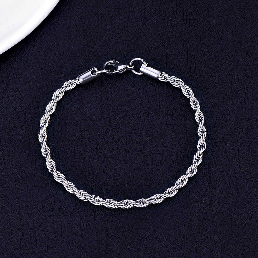 12 styl 316L wąż ze stali nierdzewnej łańcuch bransoletka tytanu stali Link bransoletka biżuteria dla mężczyzn i kobiet najwyższej jakości