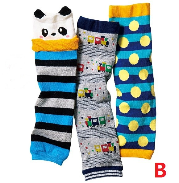 3 Pair/ Lot   Baby Cotton Leg Warmers Baby Arm Warmers  Autumn Winter 0-1 Years Old Boys And Girls Leg Warmers