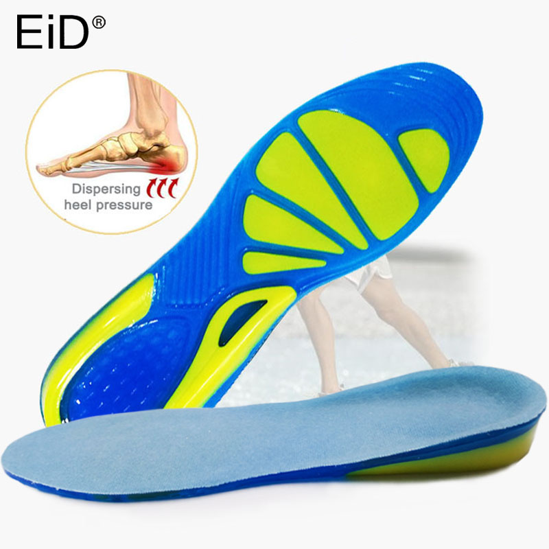 EiD TPE Silicone Insoles Foot Care For Plantar Fasciitis Orthopedic Massaging Shoe Inserts Shock Absorption Shoe Pad Unisex