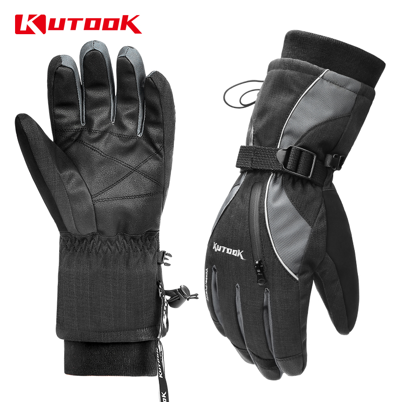 KUTOOK  Waterproof Winter Skiing Gloves TPU Thermal Ski Thicken Snowboarding Windproof Snowmobile Warm Snow Gloves For Men Women