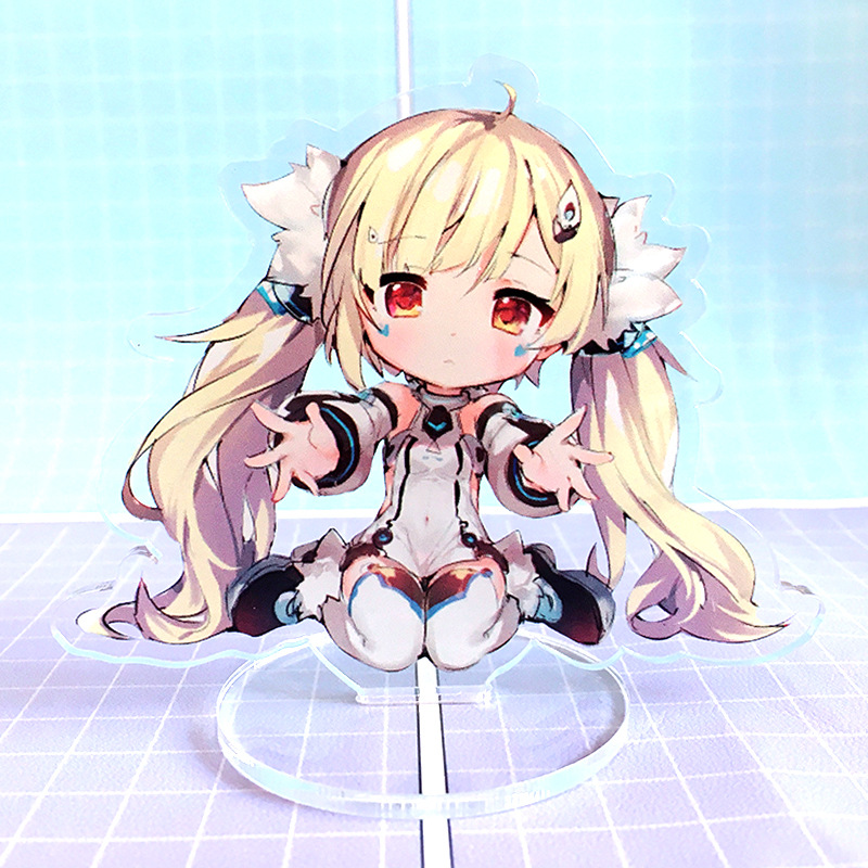 Game Azur Lane Small Display Stand Plate Cartoon Figure Acrylic Stand Model