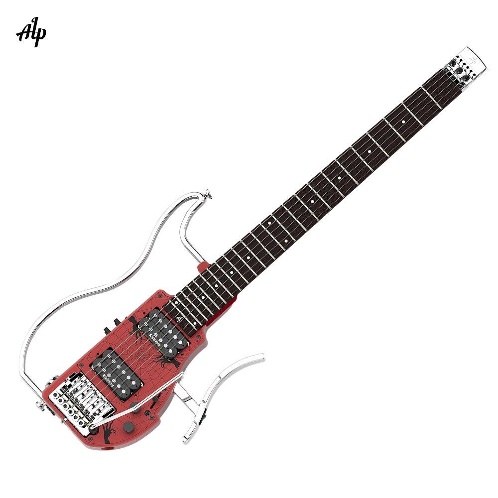 ALP ADS-361HCL professionnel pliable sans tête voyage guitare électrique Double Humbucker intégré guitare effet ébène touche