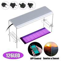 23W 30cm RGB Aquarium Led Lighting Light Lamp With White Blue Red Adjustable Color Lid Fixture For Fish And Plant Tank