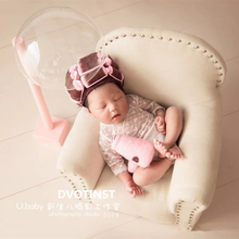 Dvotinst Newborn Photography Props for Baby Posing Mini Sofa Arm Chair Pillow Fotografia