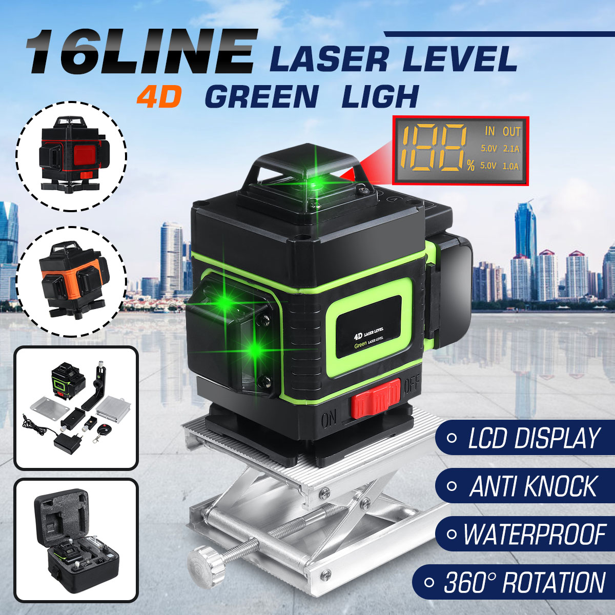 16 Lines Laser Level 4d Self Leveling 360 Horizontal And Vertical Cross Super Powerful Green Laser Beam Line Measurement Tools Best Deal 363b0 Cicig