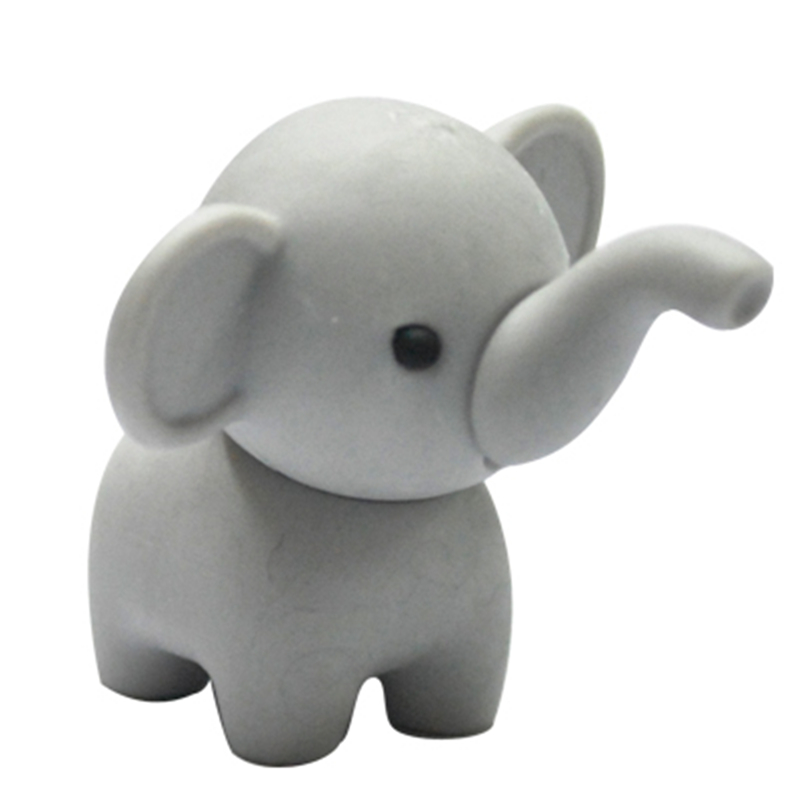 Free shipping unique animal elephant  eraser 500pcs/lot Super Good Prize for students and kids shaped eraser in the school
