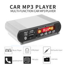 Kebidu-Radio con Bluetooth para coche, reproductor de música MP3 inalámbrico con función de grabación, módulo de Audio USB/SD/FM, CC de 12V, placa decodificadora de MP3