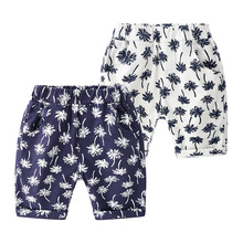 Boys Shorts 2019 Cool Kids Baby Boys Floral Print Shorts Casual Beach Kids Pants for Boys Sport Bottoms Summer Short 3-8T boys geometric print shorts