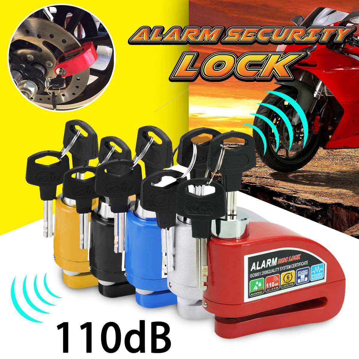Metal Motorcycle Scooter Security Anti-theft Wheel Disc Brake Lock Alarm Kit 2m/6ft Reminder Cable Alarm Lock Bike Brake Bag