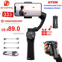Snoppa Atom 3-Axis Foldable Pocket-Sized Handheld Gimbal Stabilizer for iPhone Smartphone GoPro & Wireless Charging PK Smooth Q2