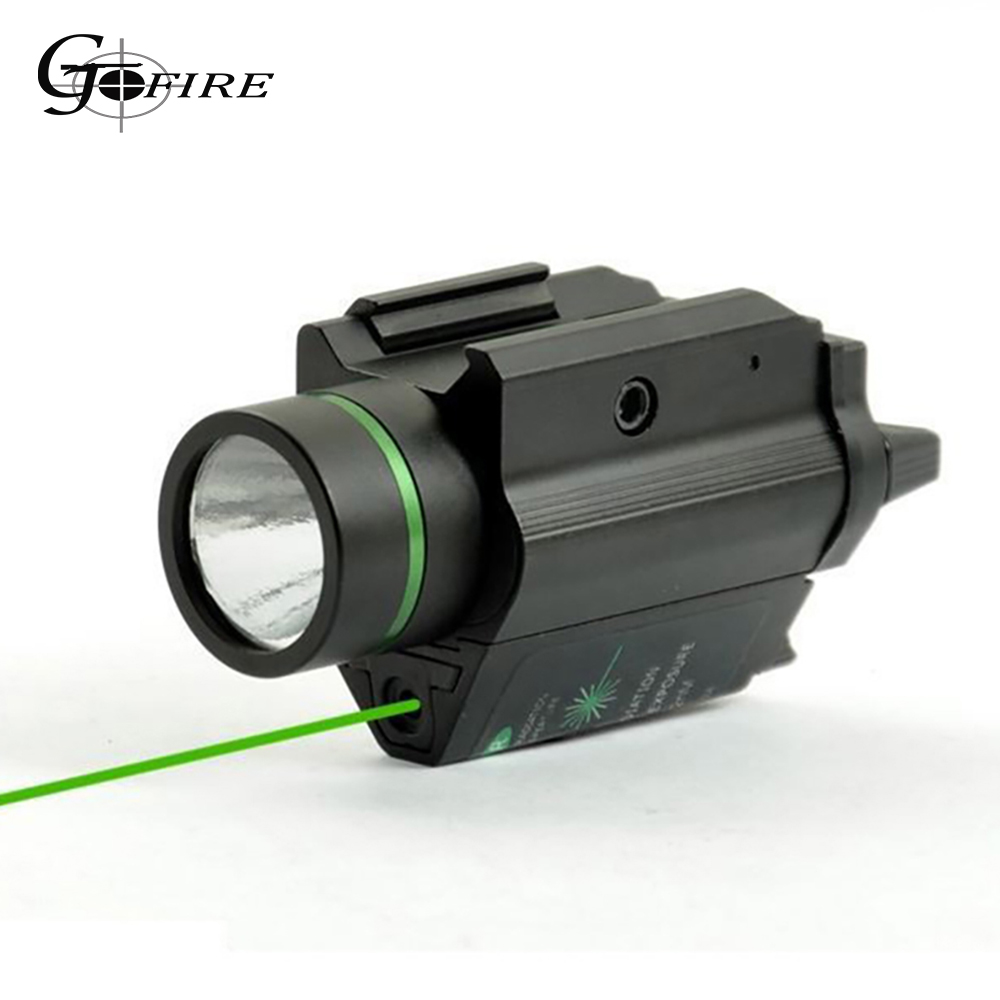 Tactical Combo Metal Green Red Dot Laser Sight LED Laser Flashlight with 20mm Rail Weaver Picatinny Fit For 20mm Rail Gun Glock-0